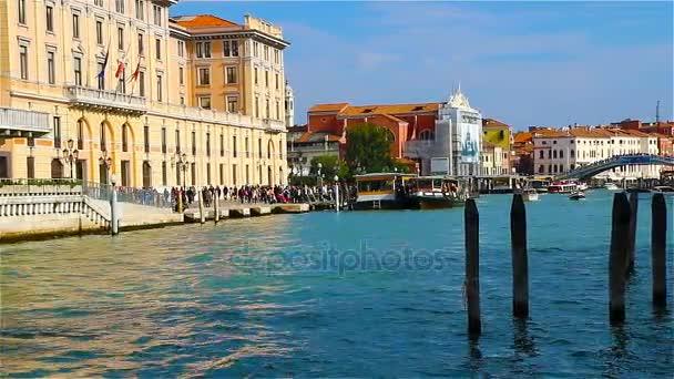 Panorama pro canal Grande v Benátkách, Itálie