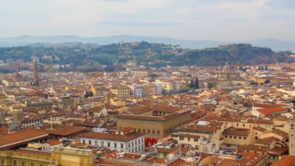 Beautiful Florentine landscape. City views and red roofs of Florence, Italy