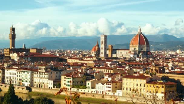 Nádherné panorama dómu ve Florencii, Itálie. Timelapse