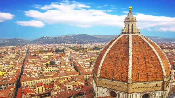 Santa Maria del Fiore and the red roofs of Florence, Italy.