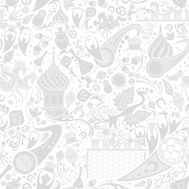 Russian grey seamless pattern, vector illustration