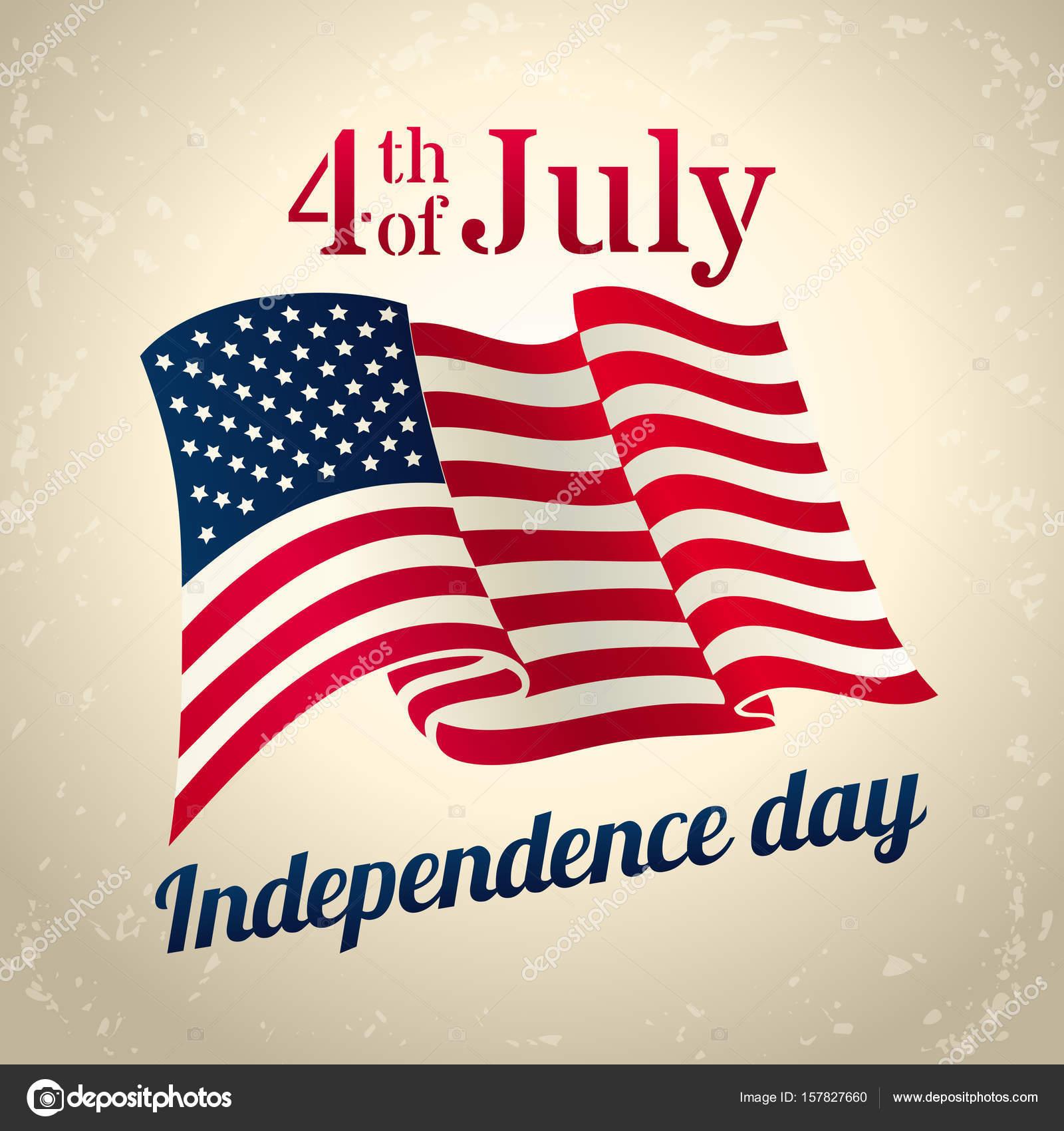 5e9af54658d3f6 Vintage style american Independence Day design - banner or poster for web