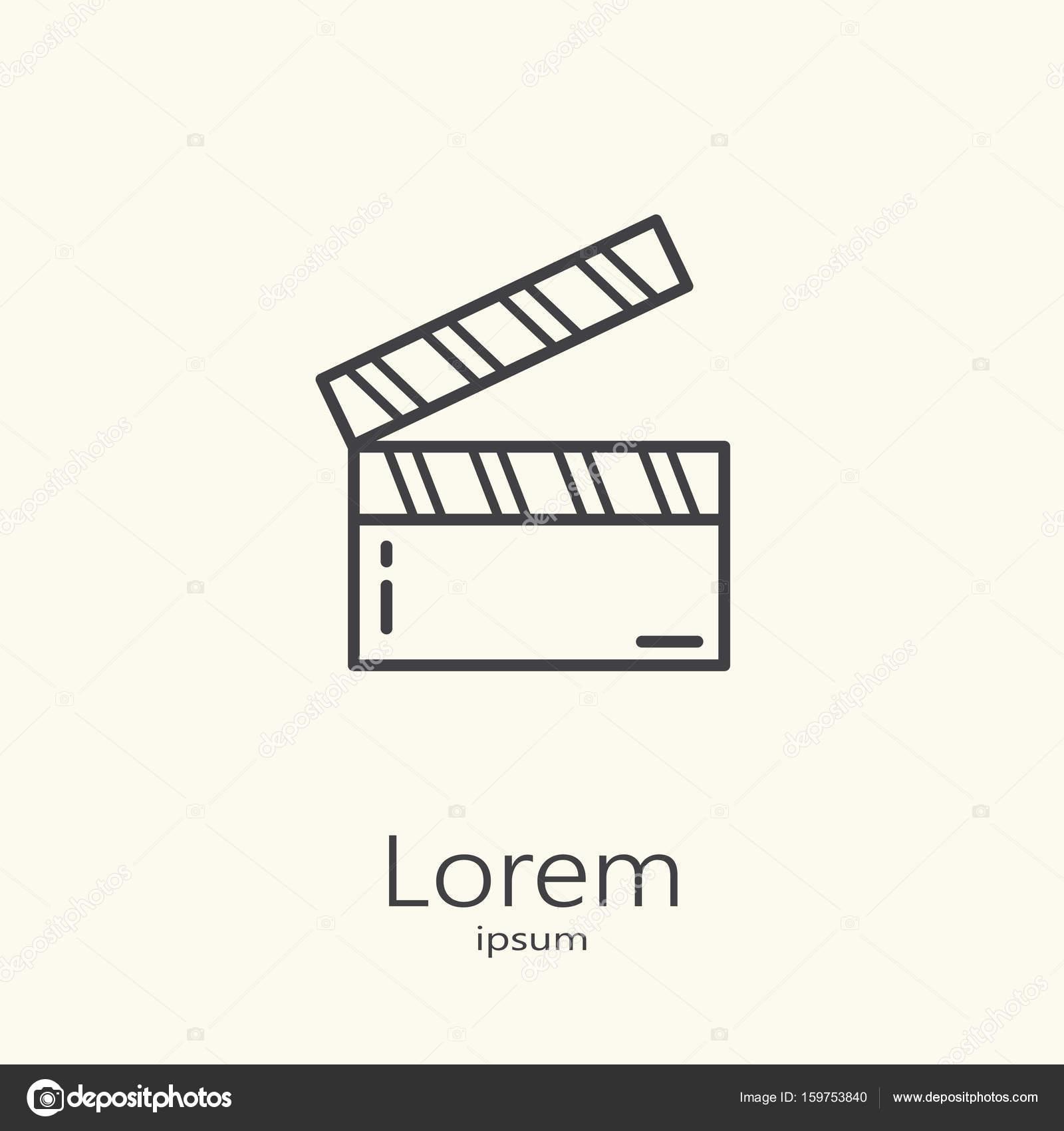 Logo-Vorlage - Klöppel für Film — Stockvektor ...