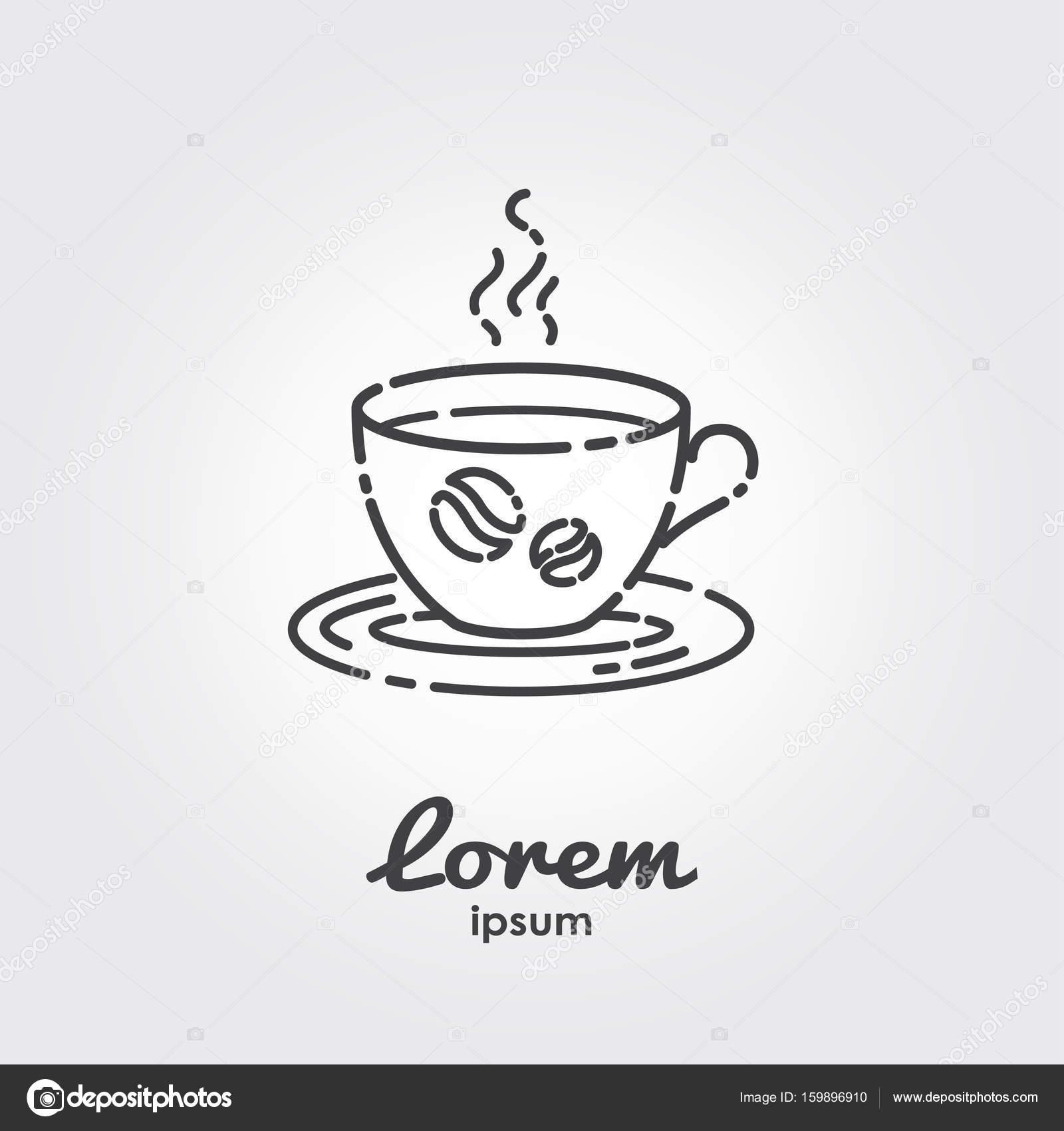 Logo-Vorlage - Tasse Kaffee — Stockvektor © Cartoon_Based_Lifeforms ...