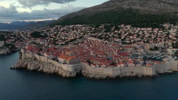Letecký pohled na staré město, Dubrovník, Chorvatsko