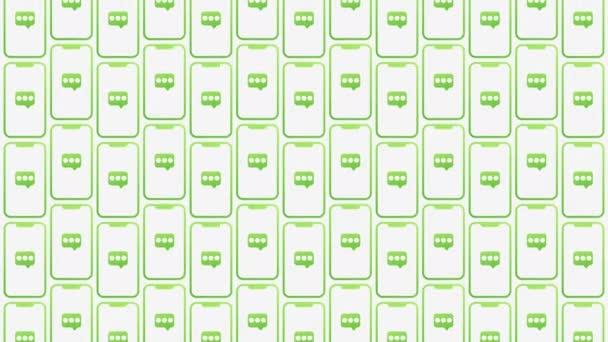 Animované pozadí vzorových zpráv chytrých telefonů