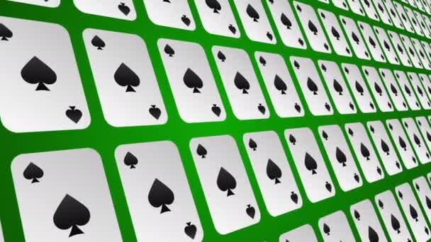 Hrací karta pades vzor zavřít animované pozadí