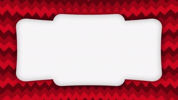 Fehér keret banner piros hullámos formák animáció