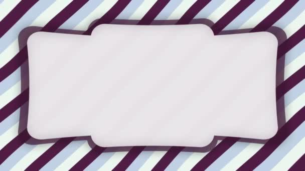 Fehér keret banner lila hullámos formák animáció