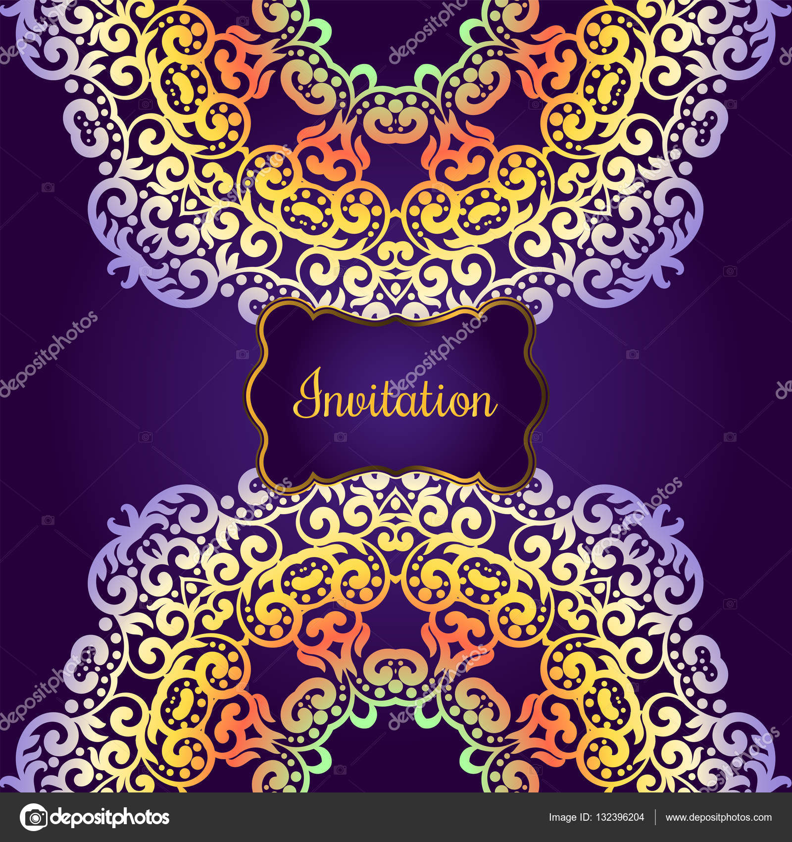 Wedding invitation delicate swirl mandala pattern vector wedding invitation delicate swirl mandala pattern vector background card or invitation vintage stopboris Image collections