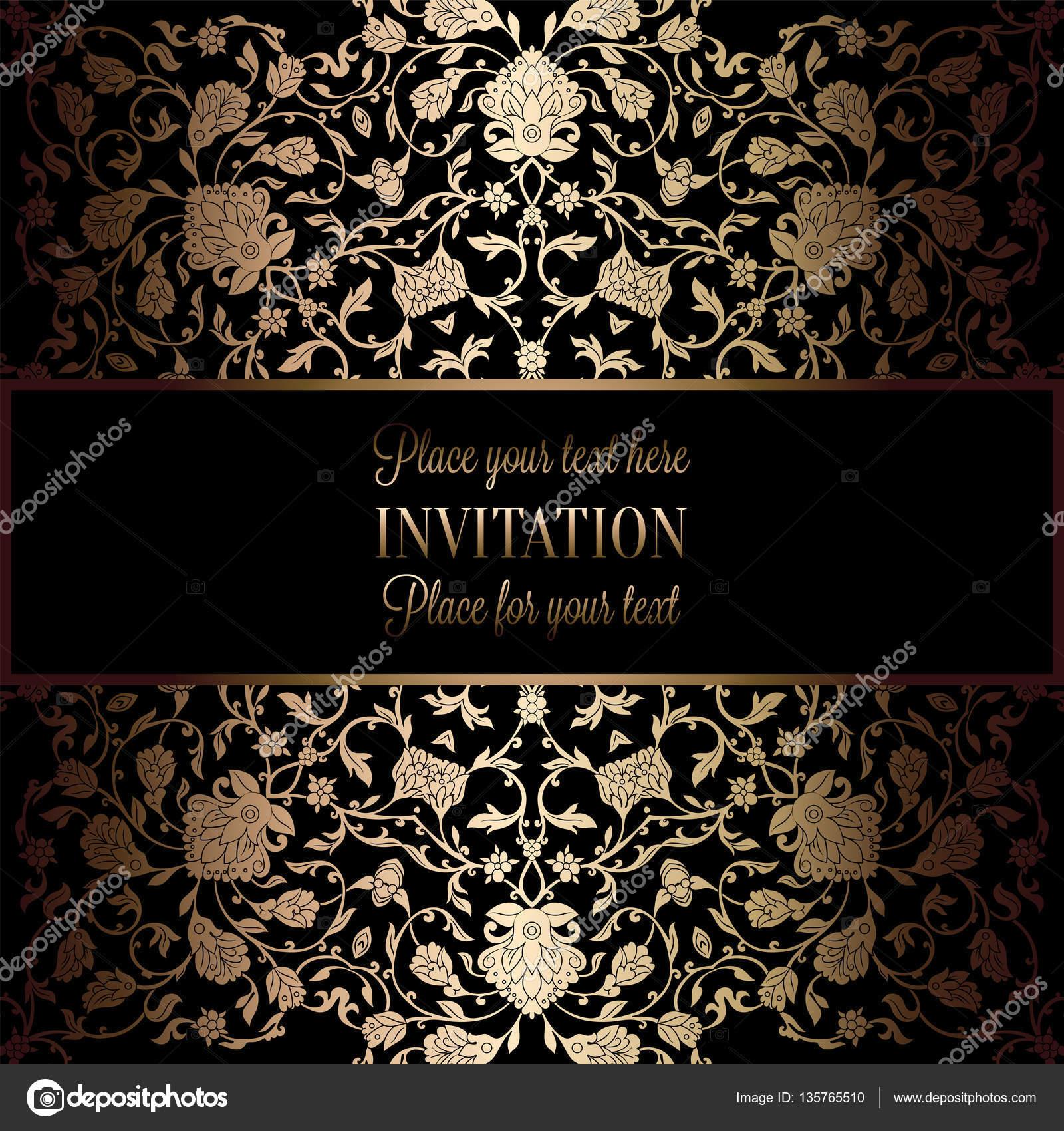 Resumen fondo antiguo, marco negro y dorado de lujo del vintage ...