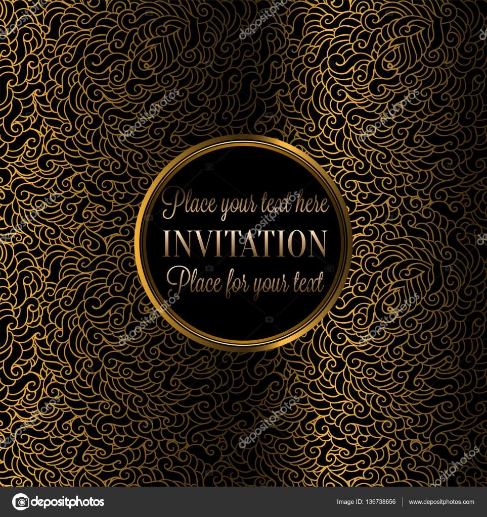 羽壁紙装飾 招待状 バロック様式の小冊子 ファッション パターンで