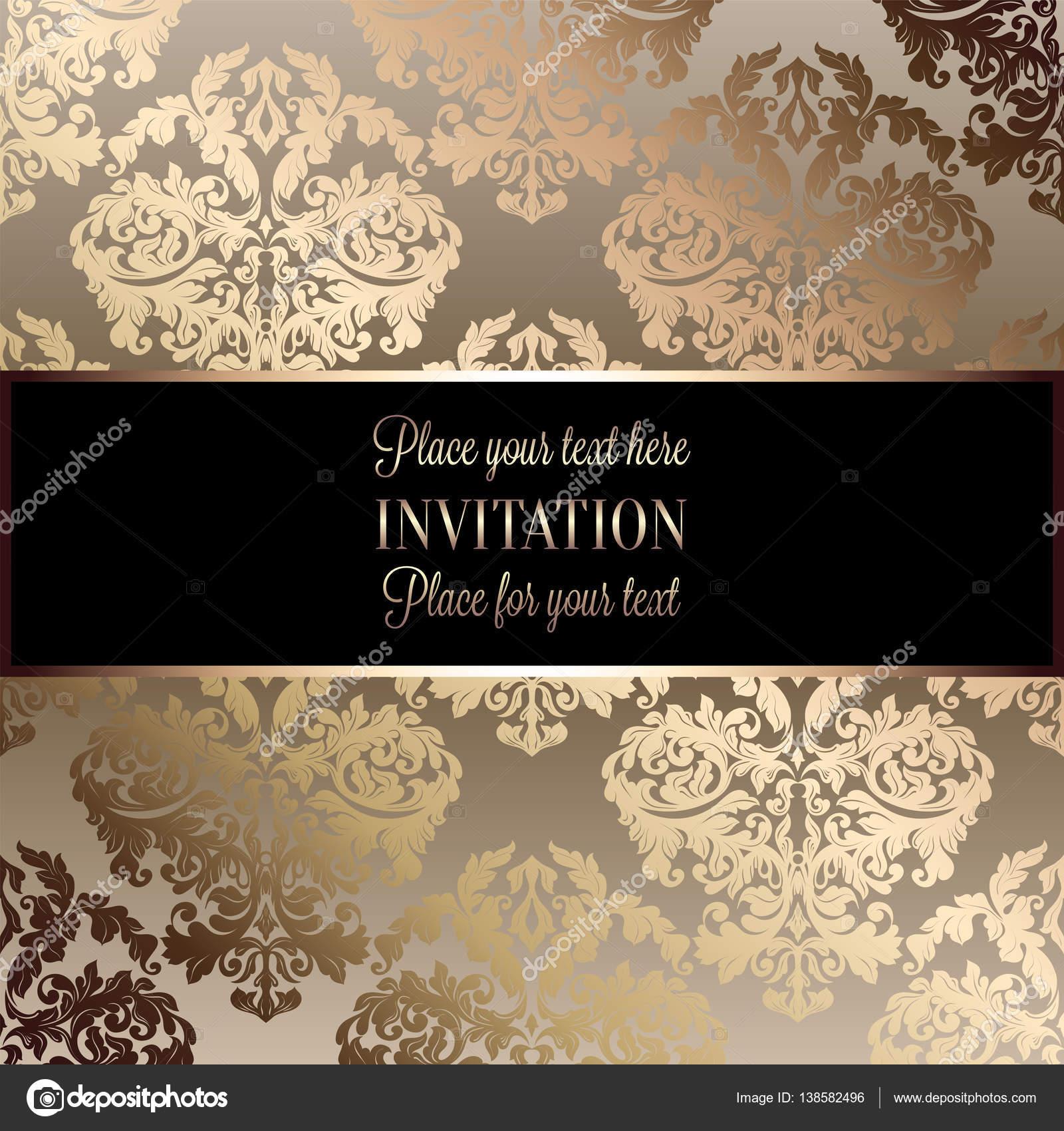 Barocke hintergrund mit antik luxus schwarz und gold vintage rahmen viktorianischen banner Decoration noir or luxe classe