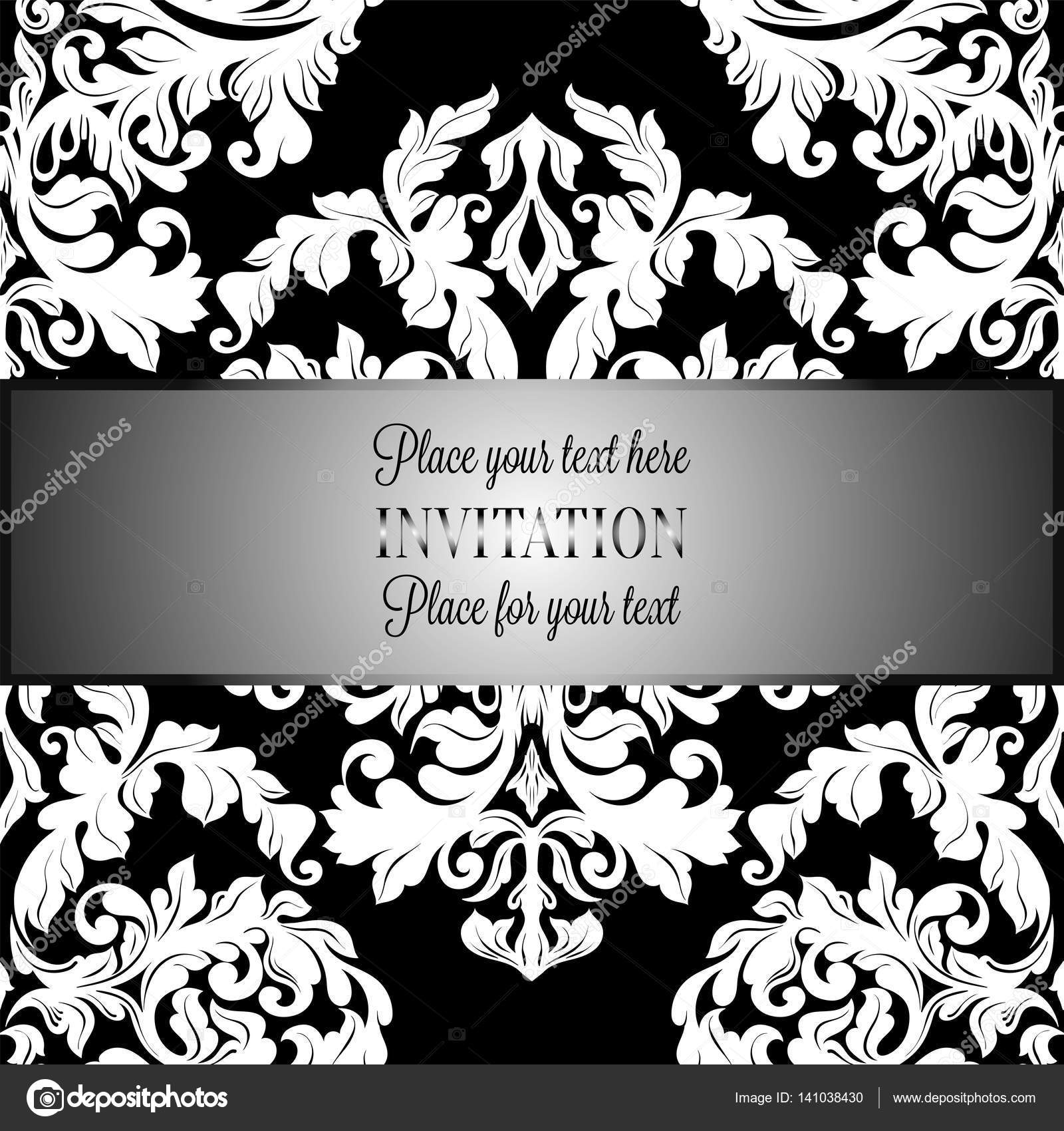 Black And White Floral Wallpaper Background