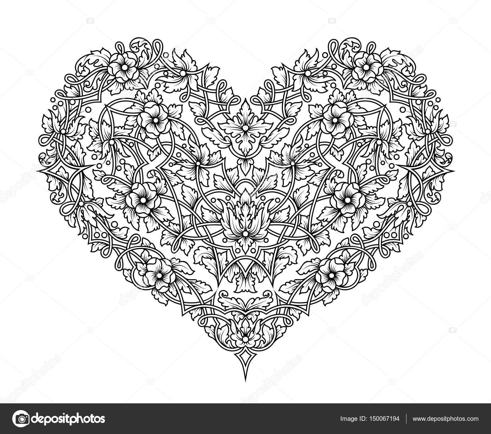 Vector de intrincada tracería con flores y ramas enredadas en forma ...