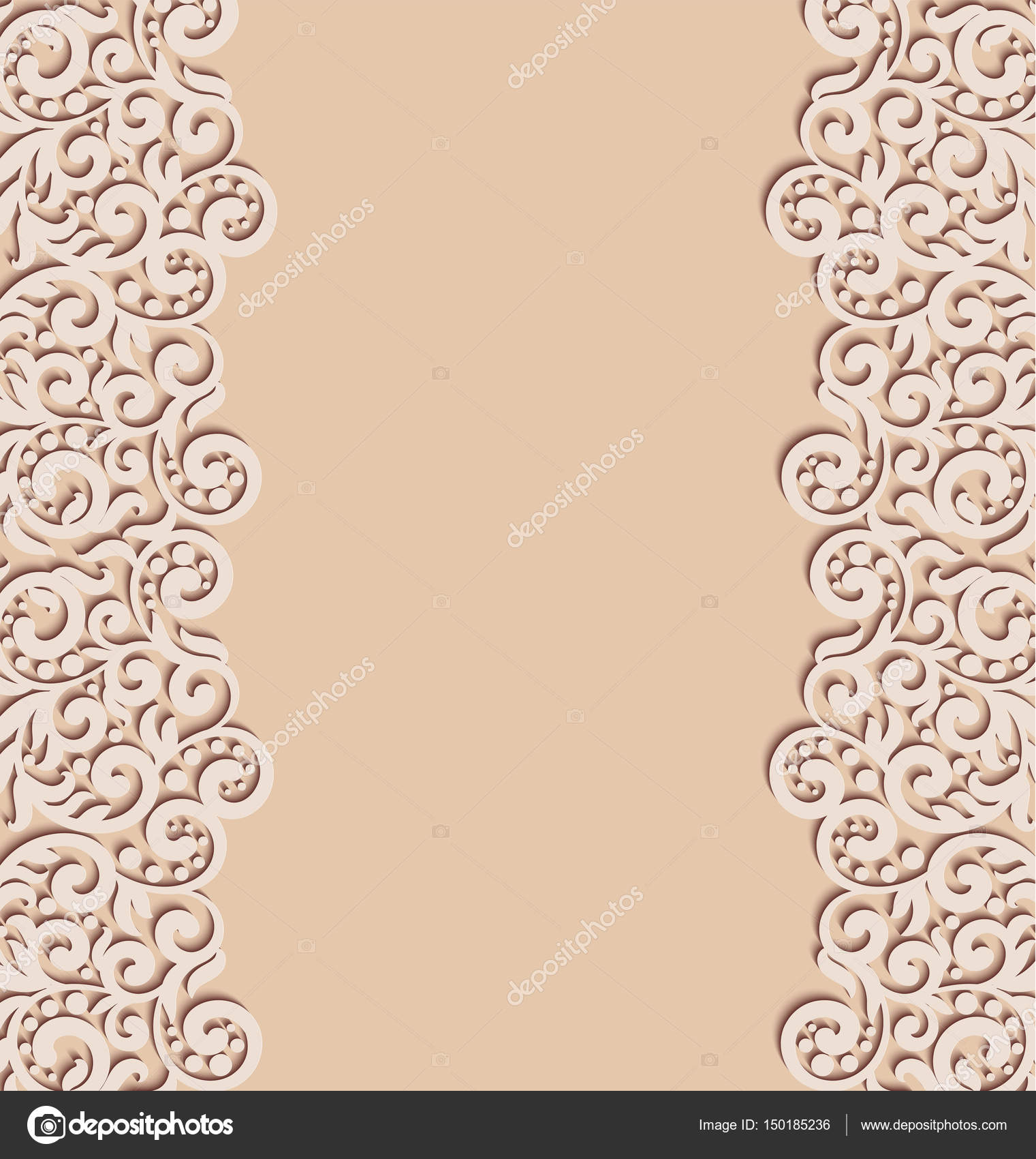 Swirl Decorations Template Vector Floral Swirls Decoration