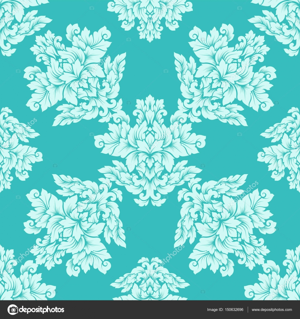 Luxury royal ornament, victorian texture for wallpapers, textile, wrapping. Exquisite floral baroque lacy flourish in soft mint green colors– stock ...