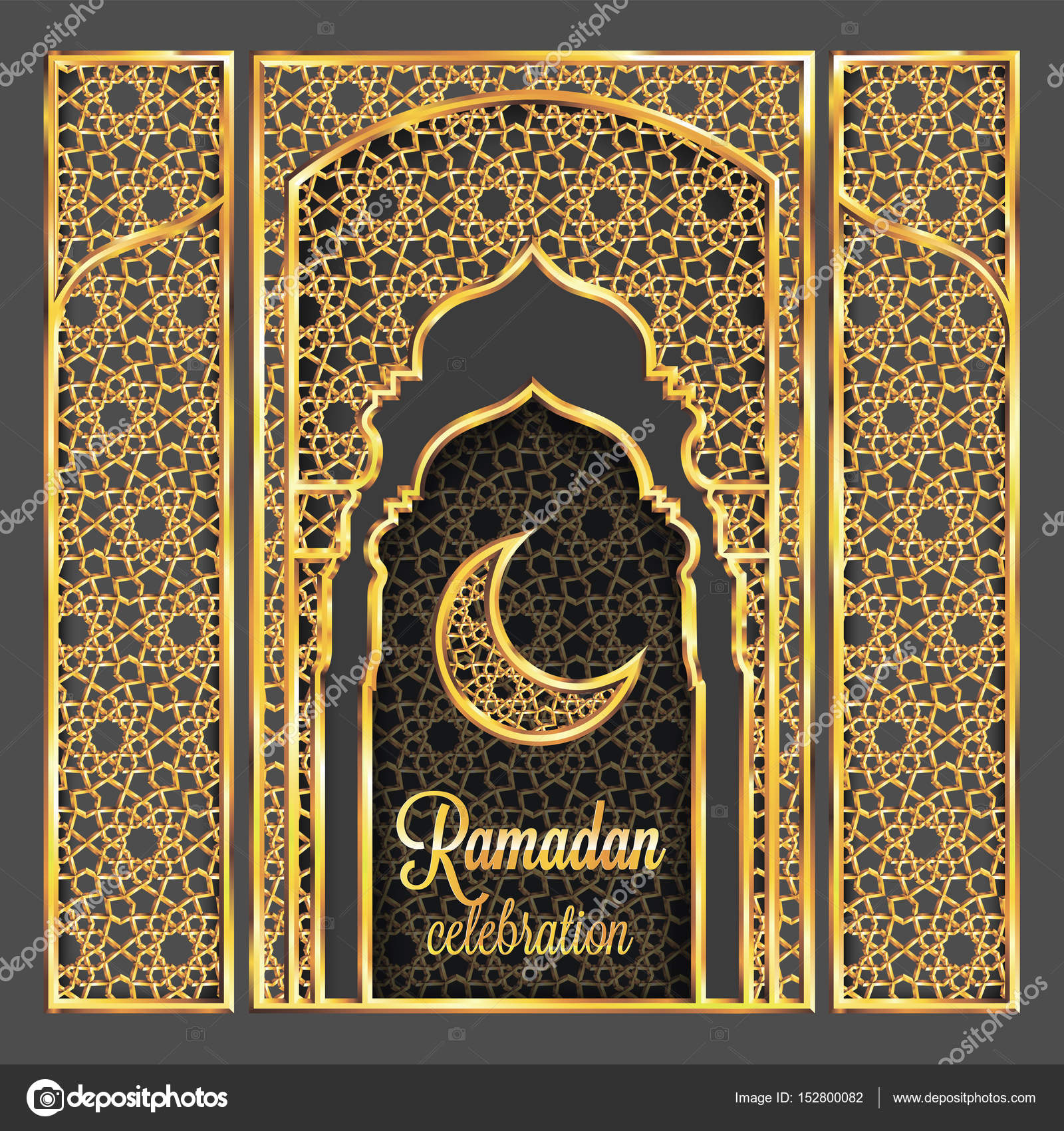 Ramadan kareem greeting card with traditional islamic pattern ramadan kareem greeting card with traditional islamic pattern invitation or brochure in eastern style m4hsunfo