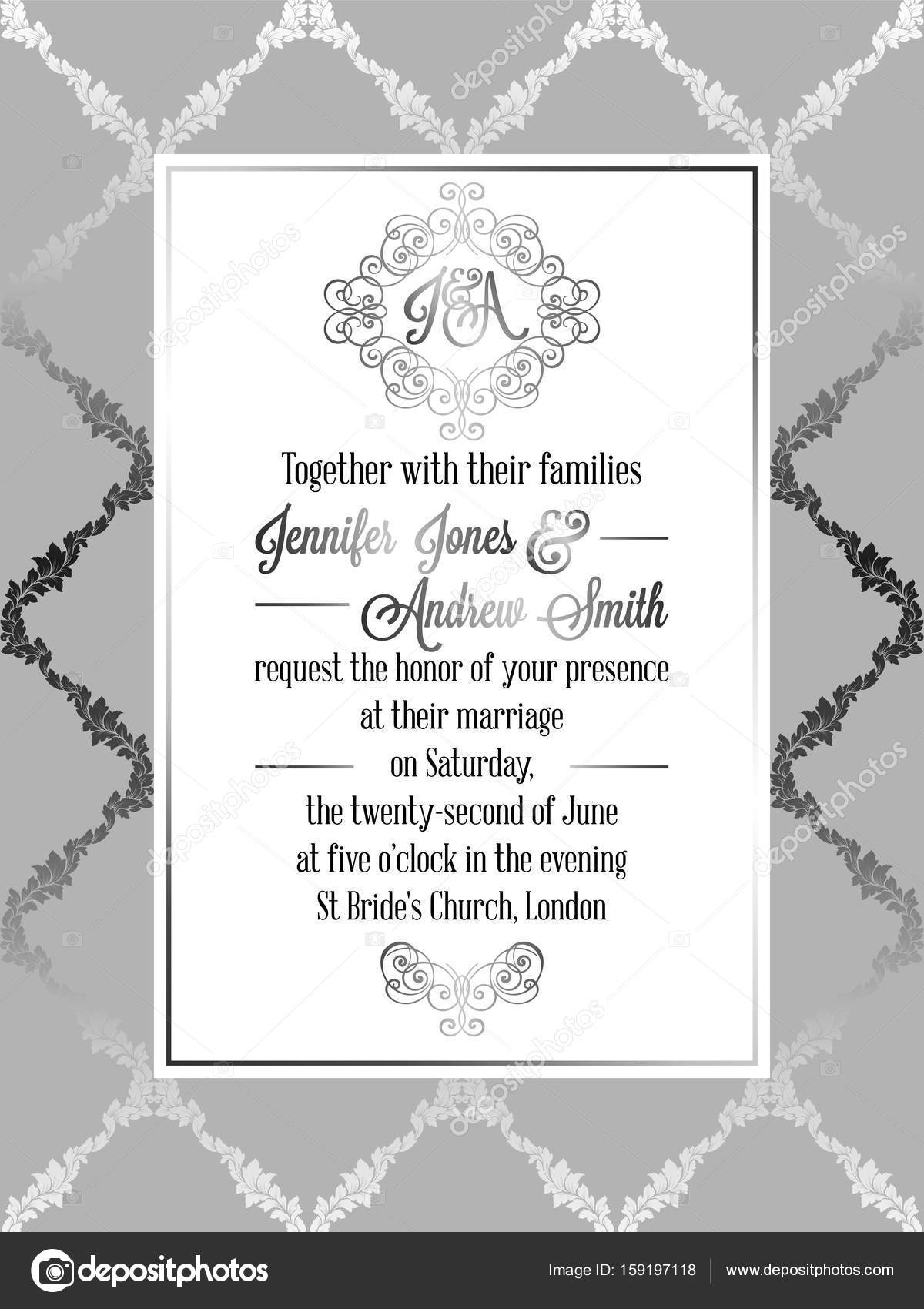 Invitacion Evento Formal Plantilla De Tarjeta De