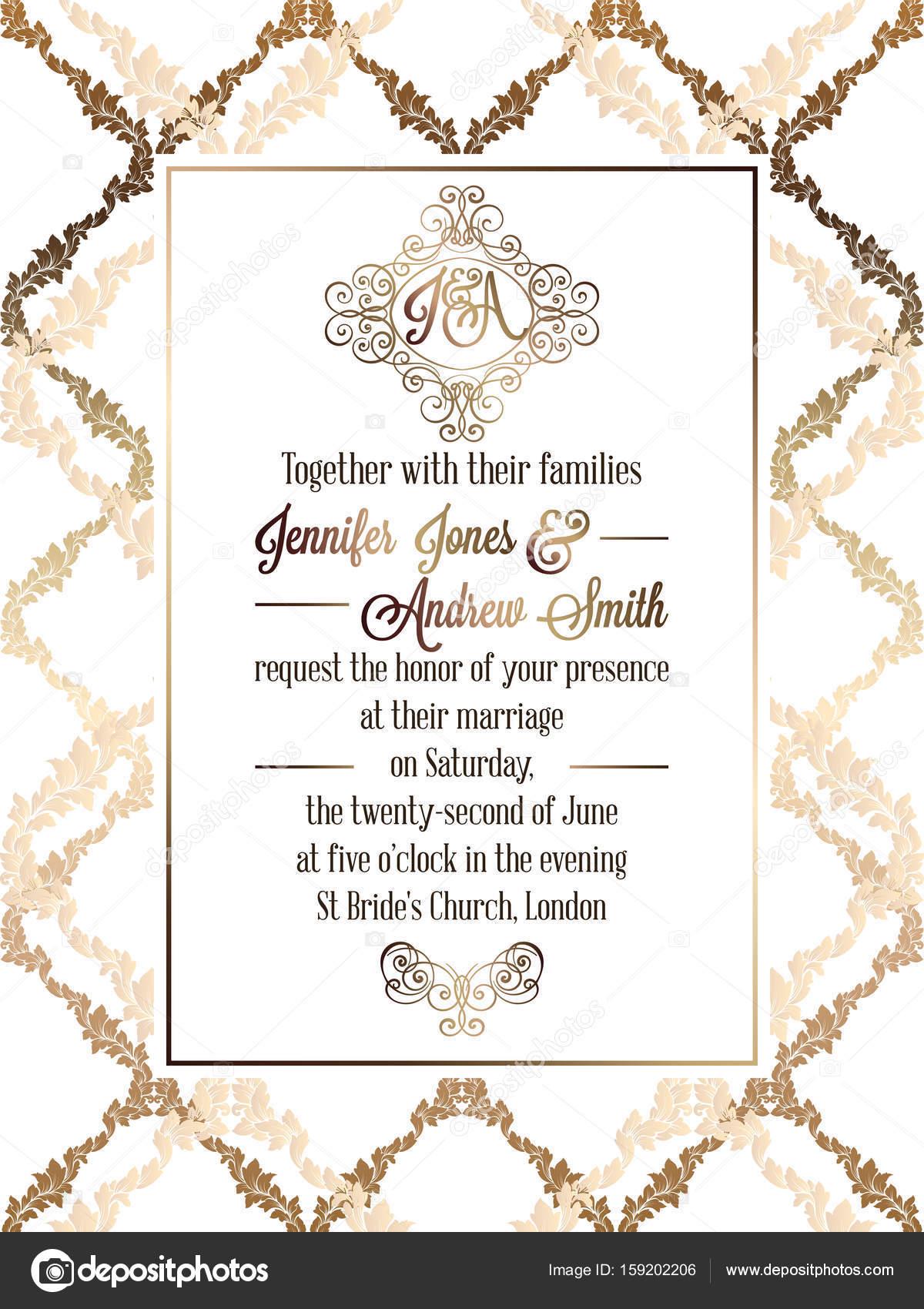 Tarjeta De Invitacion Evento Formal Plantilla De Tarjeta