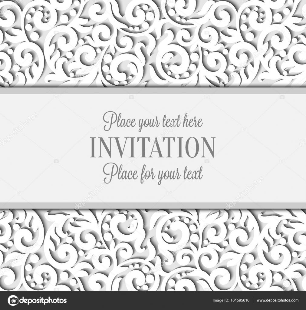 Hochzeitskarte mit Papier Spitze Rahmen, lacy Deckchen auf Einladung ...