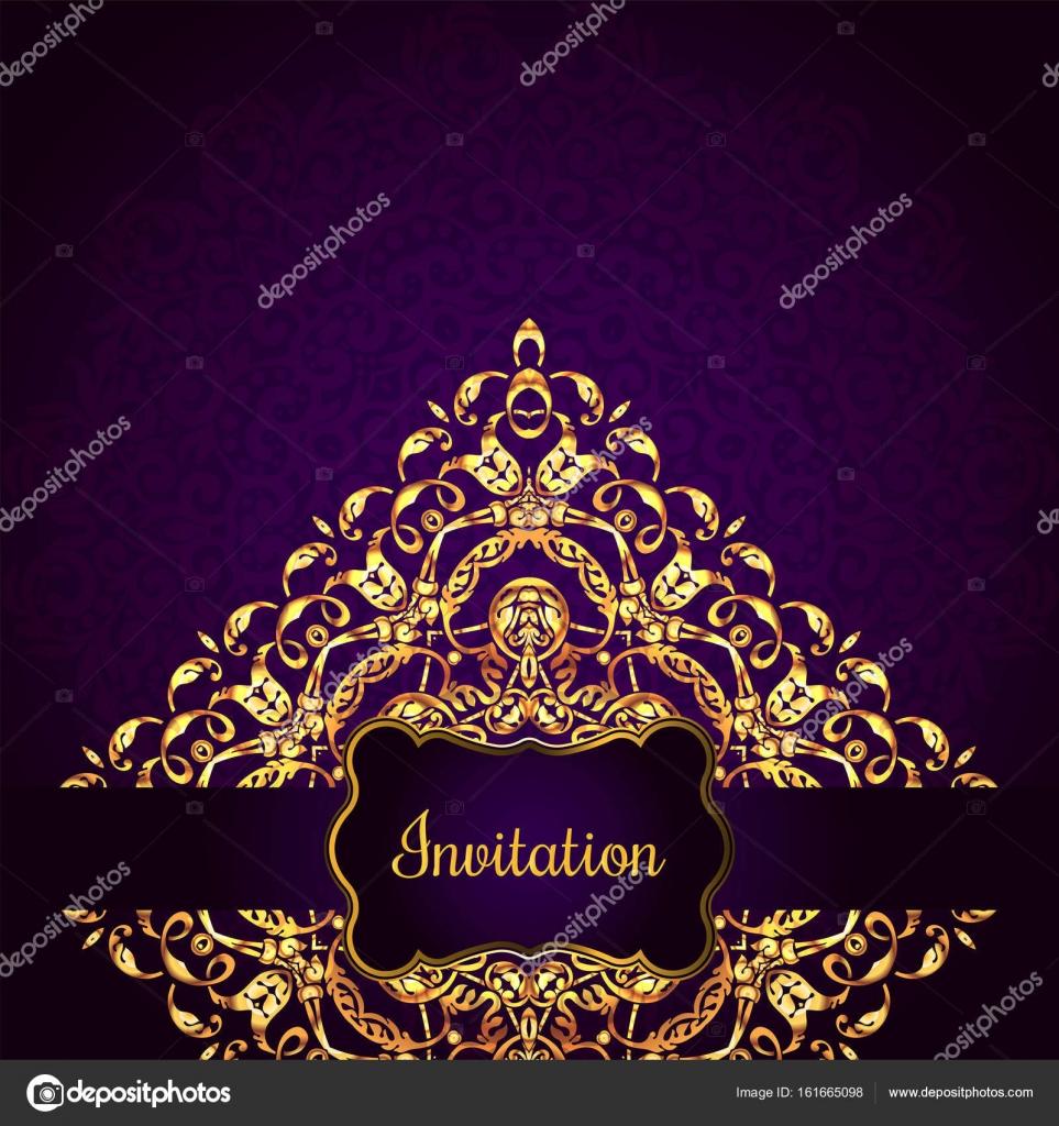 Vintage-Hintergrund, antike, viktorianischen gold Ornament, Barock ...