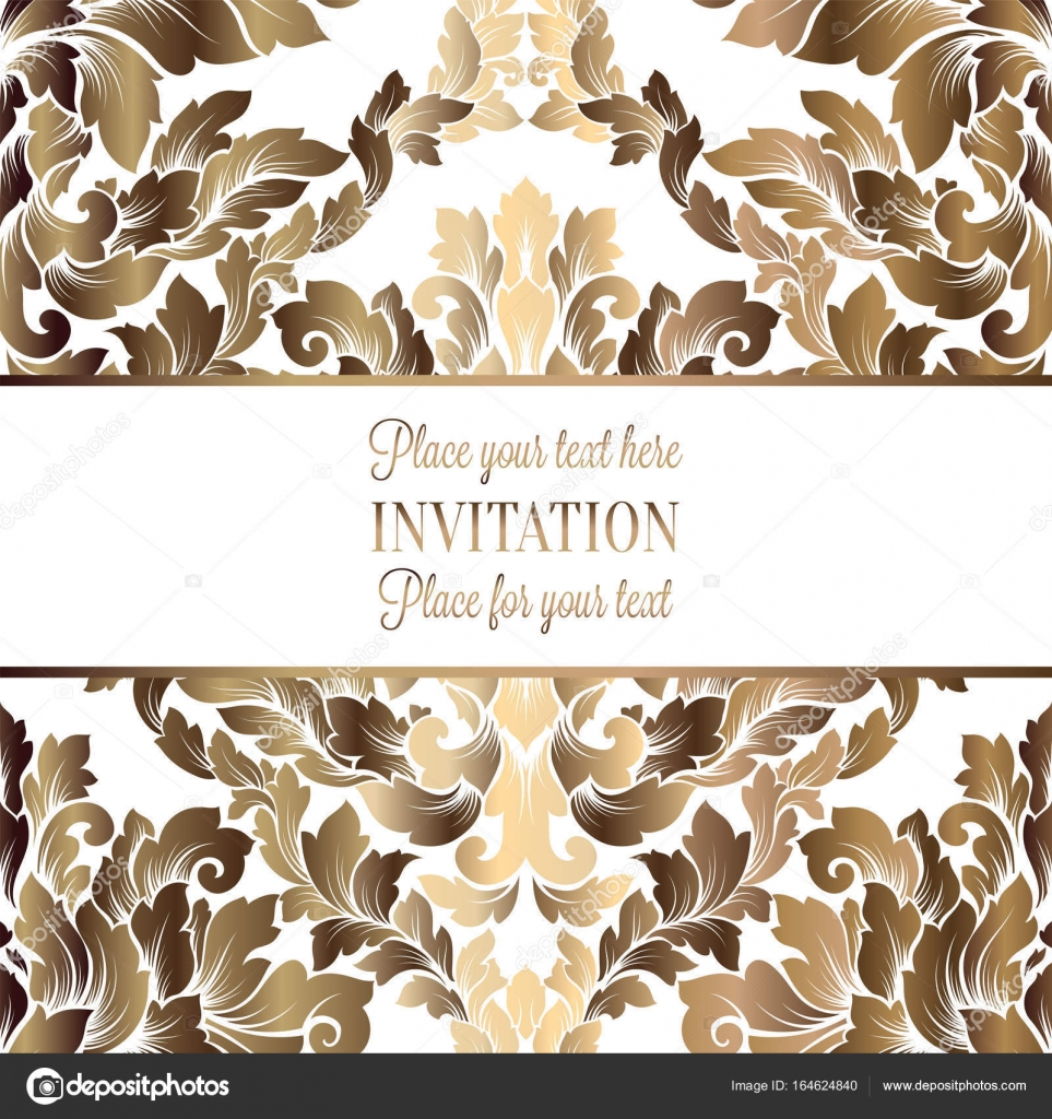 Vector luxury foliage with gold floral vintage pattern for banner vector luxury foliage with gold floral vintage pattern for banner wallpaper invitation card stopboris Image collections