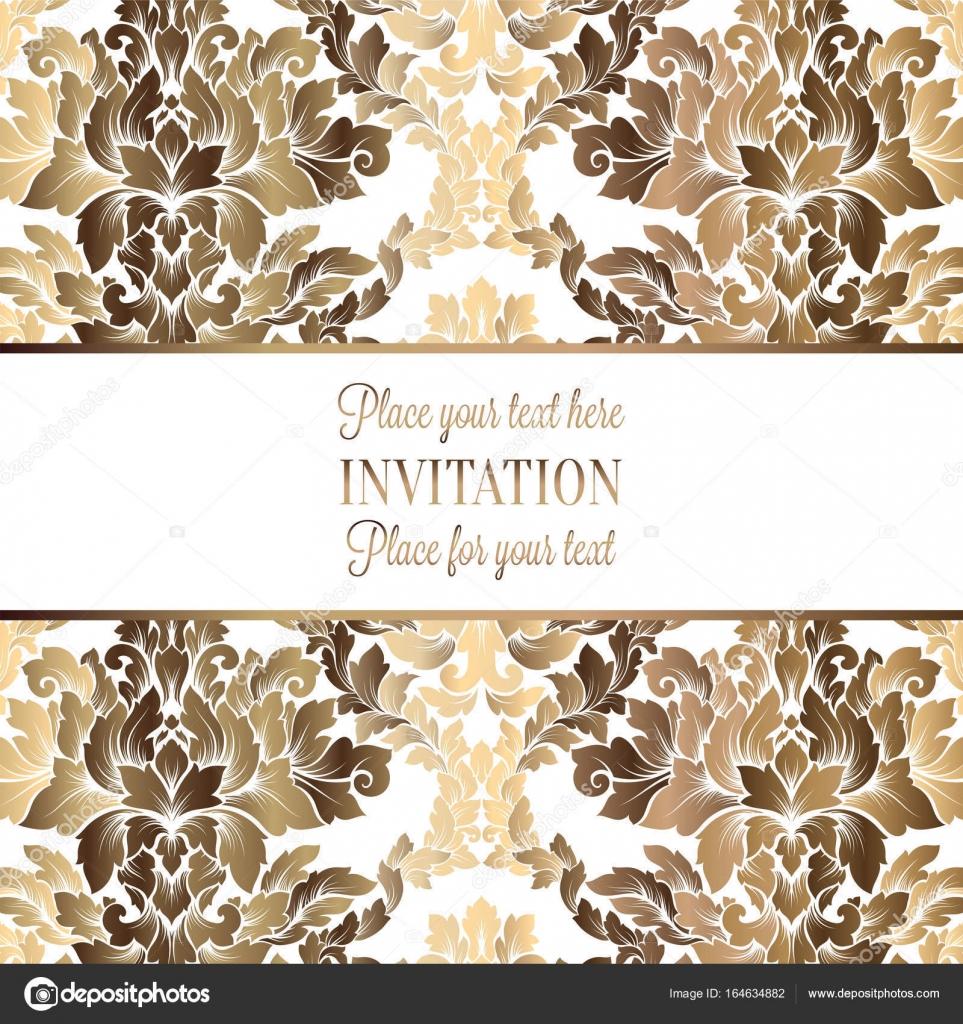 Vektor Luxus Laub Mit Gold Vintage Blumenmuster Fur Banner