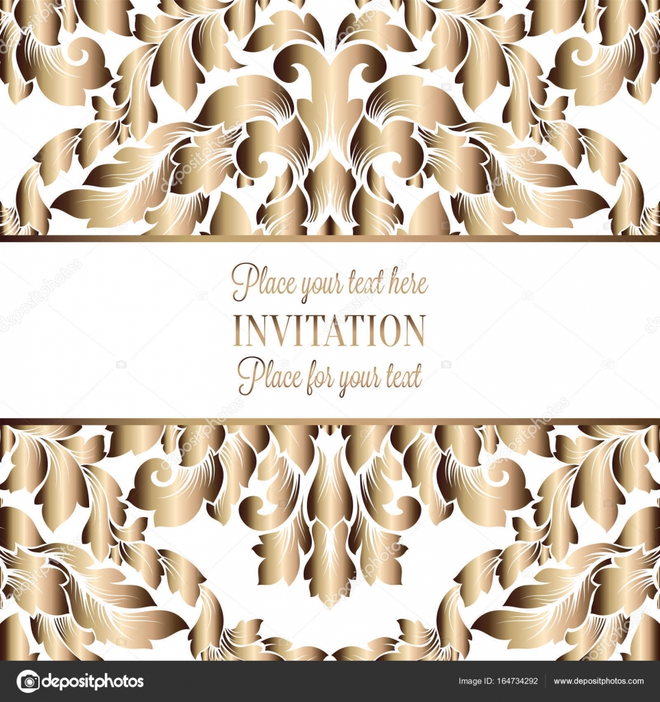 Vector luxury foliage with gold floral vintage pattern for banner ...