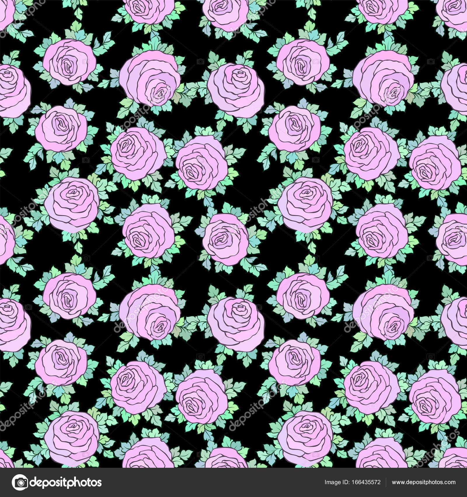 Floral Lumineux Papier Peint Decoratif Et De Roses Mignons Modele