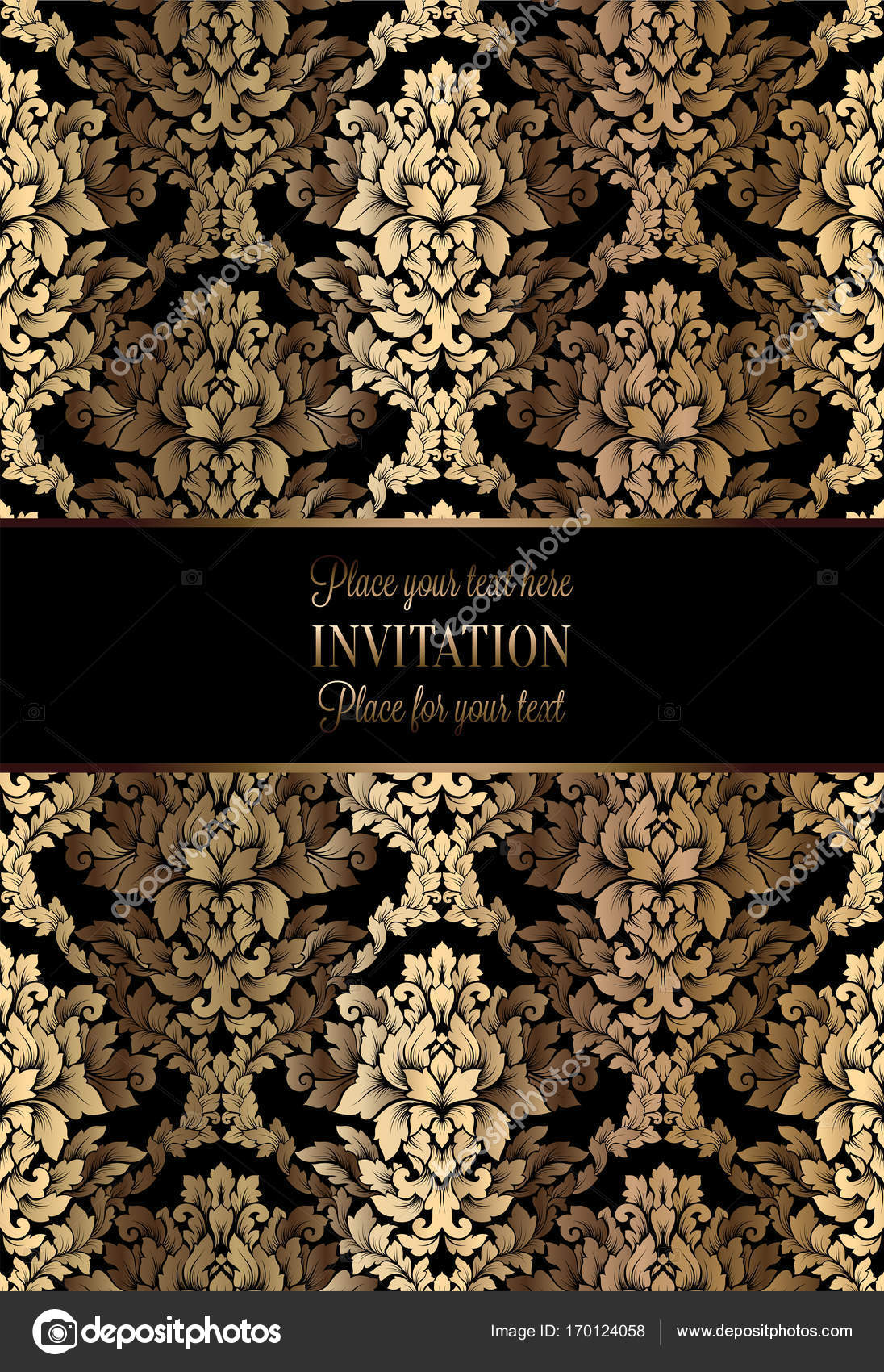 vector luxury foliage with gold floral vintage pattern for banner