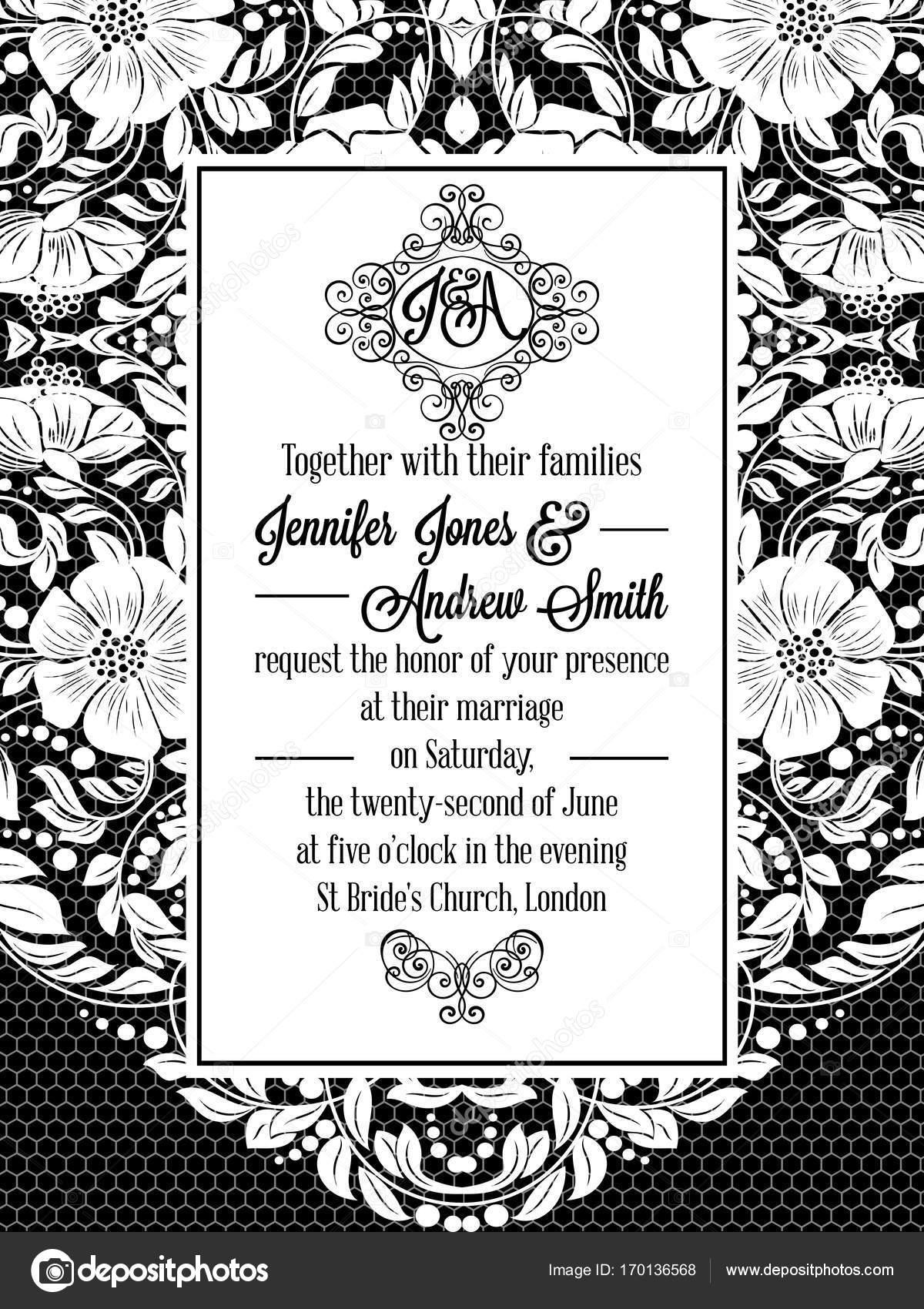 Eleganten floralen wirbelt, lacy Muster verzierten Rahmen, Monogramm ...