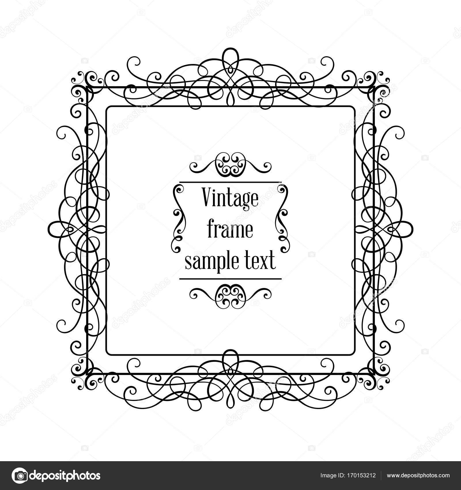 Vintage ornamentalen Vektor Grußkartenvorlage mit Rahmen und ...