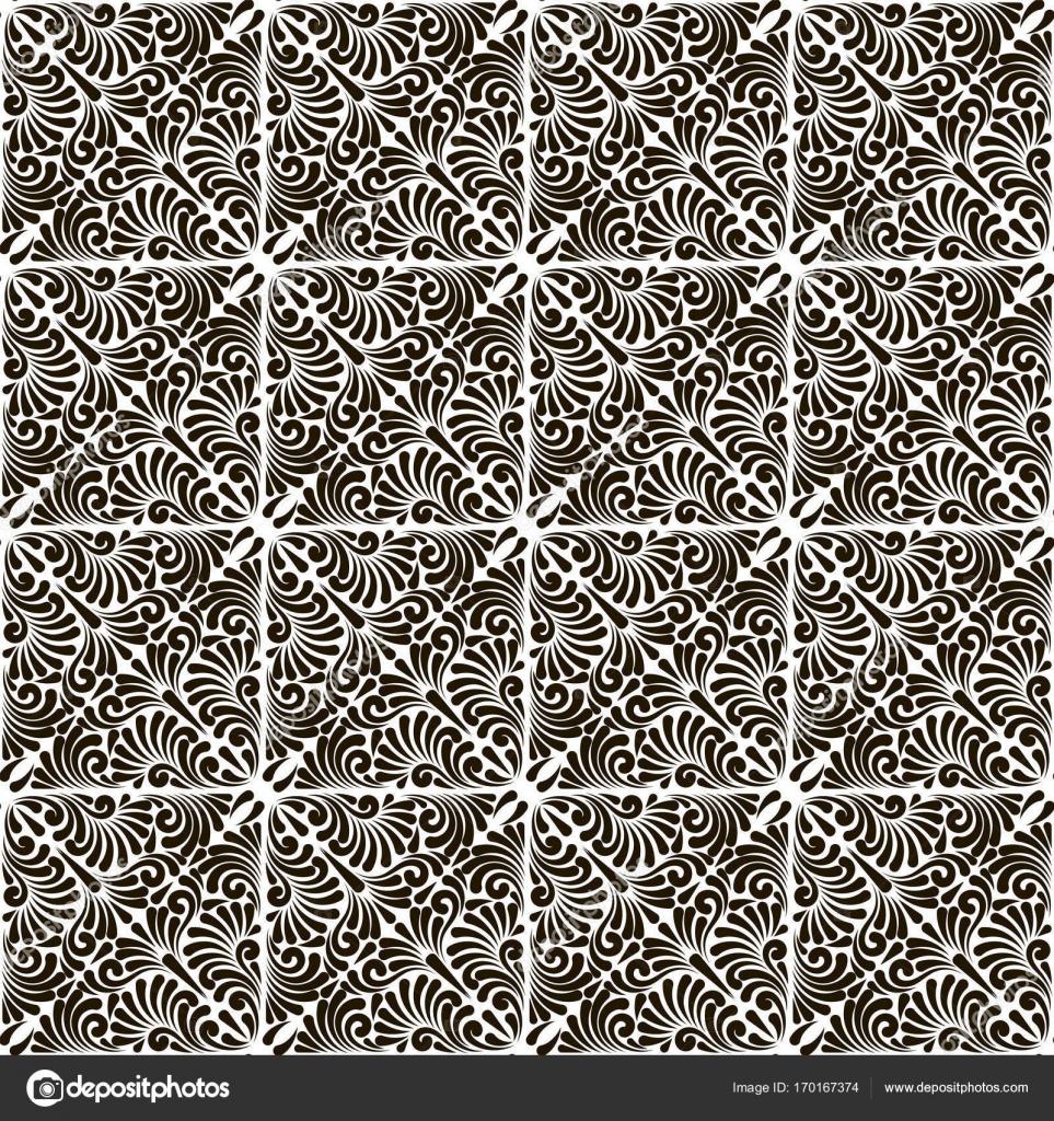 Modele Abstrait Sans Soudure Fond De Noir Et Blanc De Vecteur