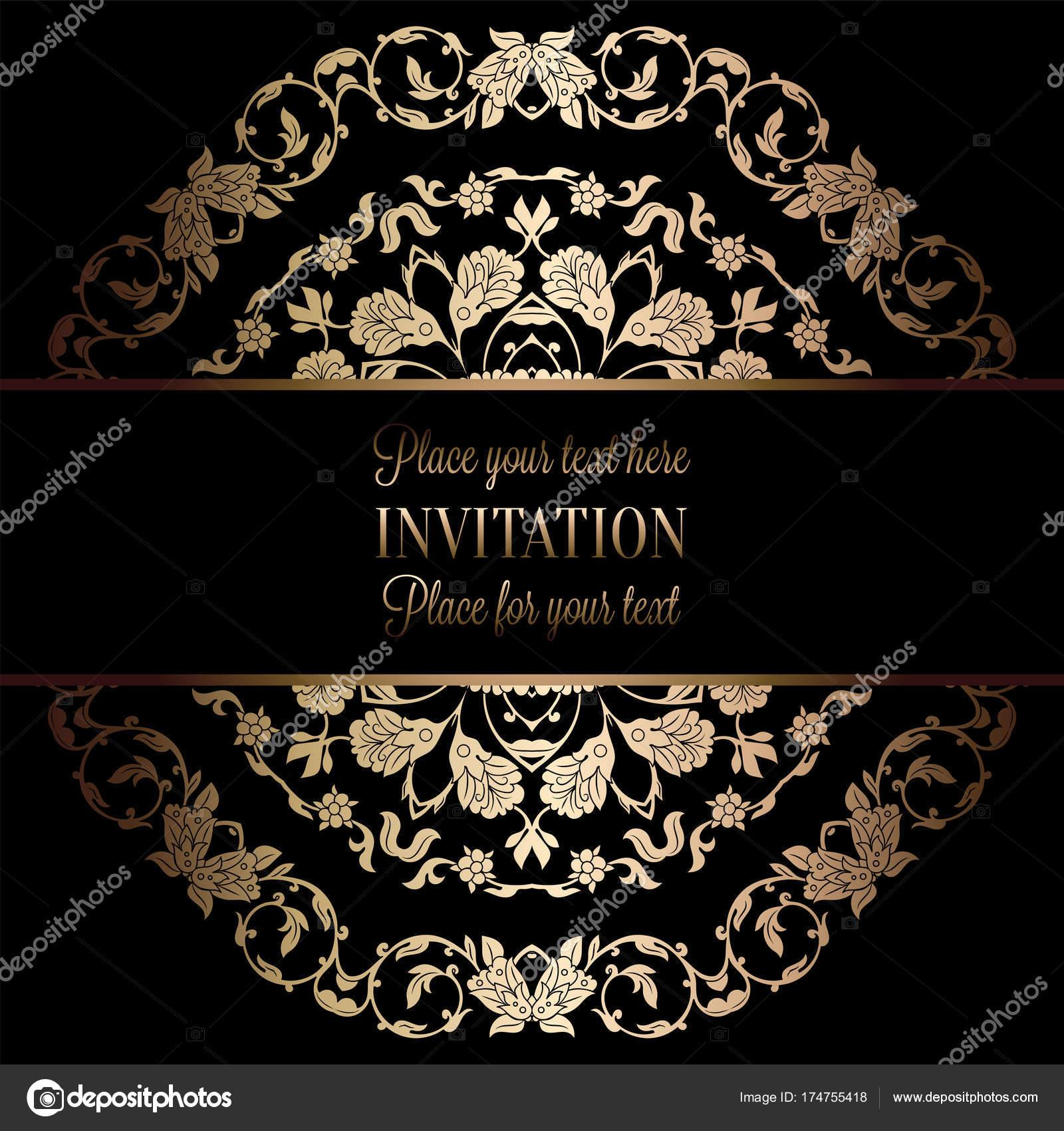 Vintage Barock Hochzeitseinladung Vorlage Mit Damast