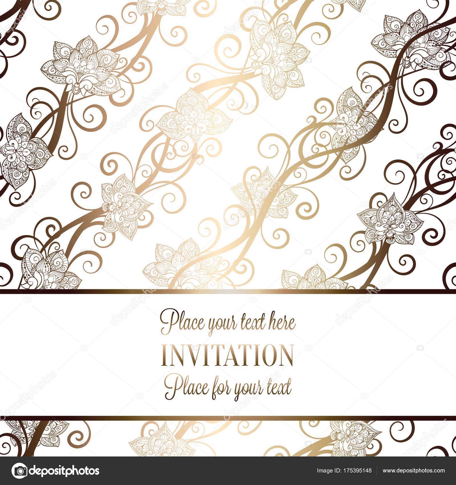 Imágenes De Decoración De Invitación De Boda Tarjeta