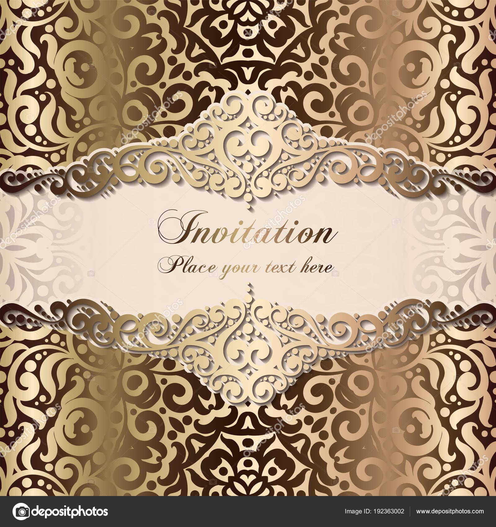 Plantilla Invitacion Bodas De Oro Diseño Plantilla Tarjeta