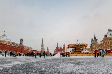 Moscow, Russia: New Year's fair on Red Square