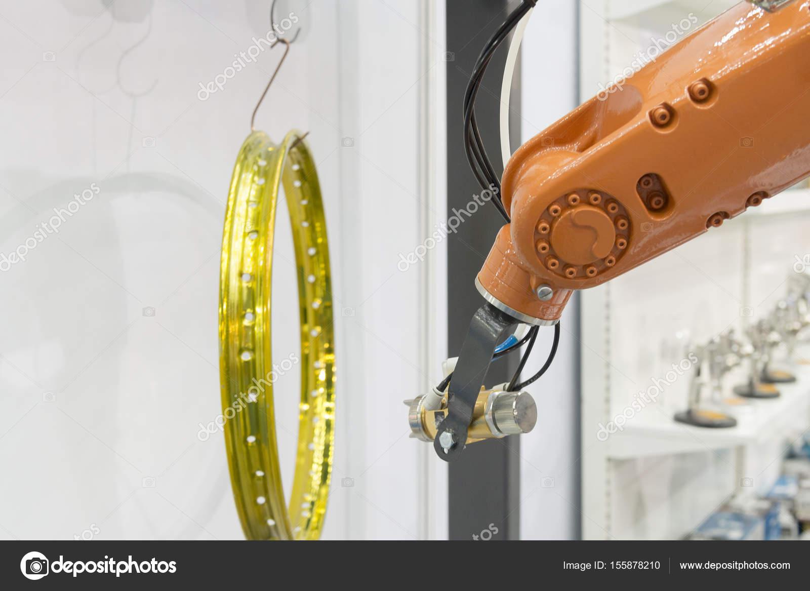 El robot de pintura la pintura de aerosol — Fotos de Stock © phuchit ...