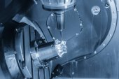 Fotografie die Tischfliese Typ 5-Achsen CNC-Fräsmaschine