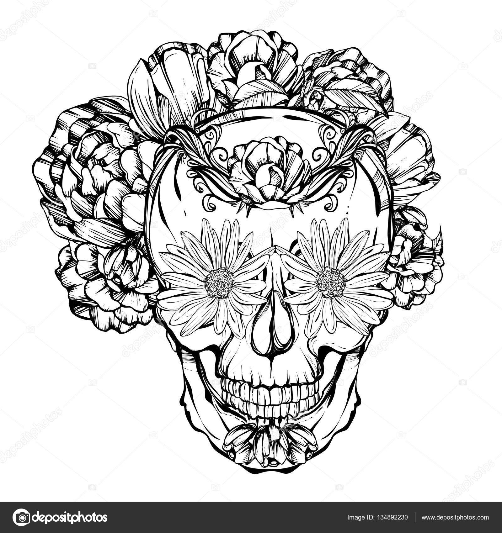 Halloween. Da de los Muertos — Archivo Imágenes Vectoriales ...