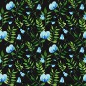 akvarell, kézzel készített virág mintával