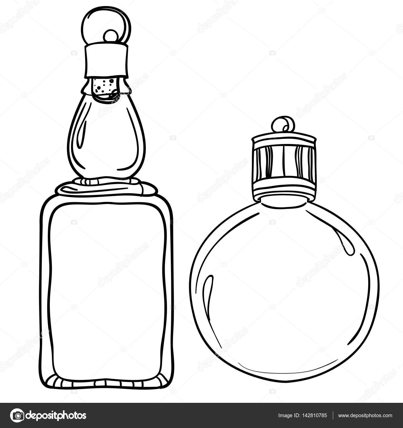 Botellas de vidrio blanco y negro — Archivo Imágenes Vectoriales ...