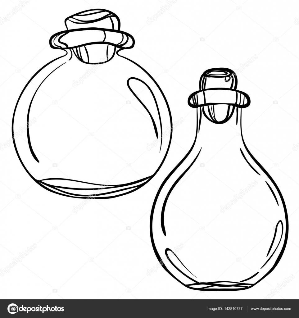 Botellas De Vidrio Blanco Y Negro Archivo Imágenes