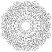 Mandala, pozsgás növények. körkörös minta