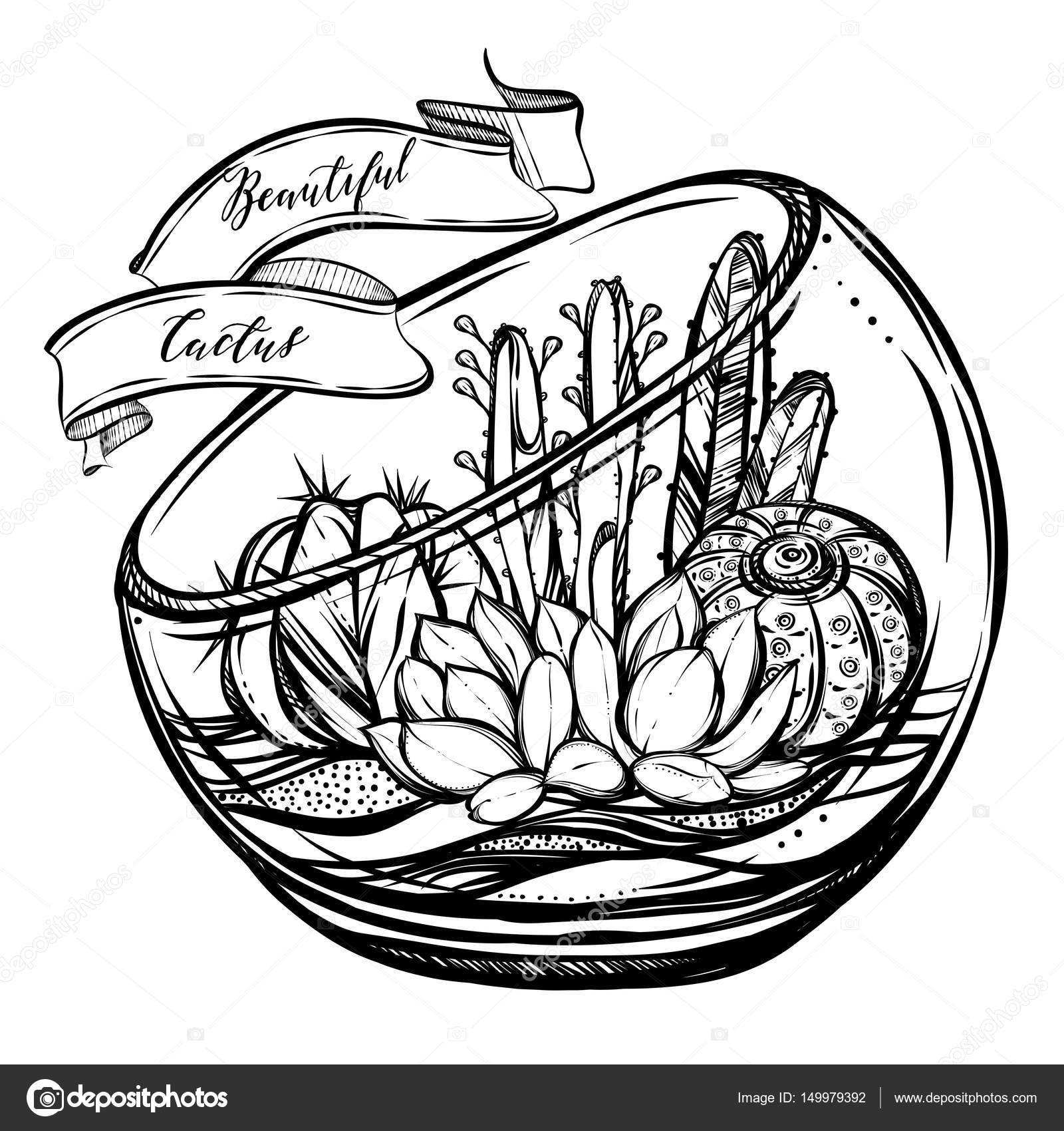 ᐈ Terrarium Drawing Stock Vectors Royalty Free Terrarium Drawing Illustrations Download On Depositphotos