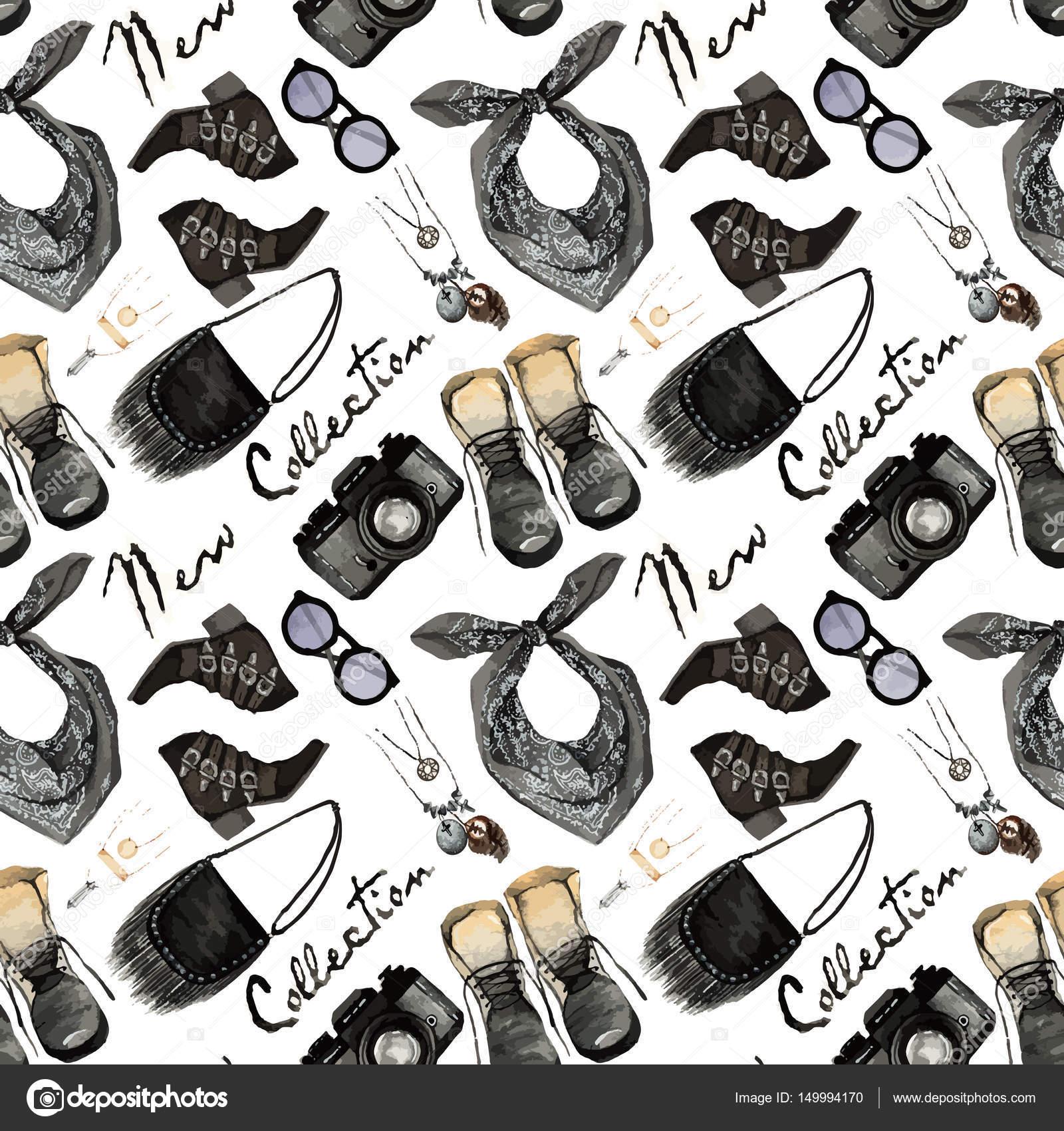 Ilustración de moda acuarela — Vector de stock © HikaruD88 #149994170