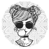Dívka s brýlemi a tetování