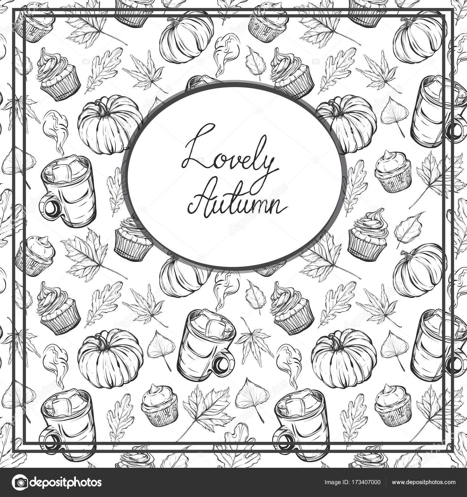Tarjeta postal sobre tema otoño — Vector de stock © HikaruD88 #173407000