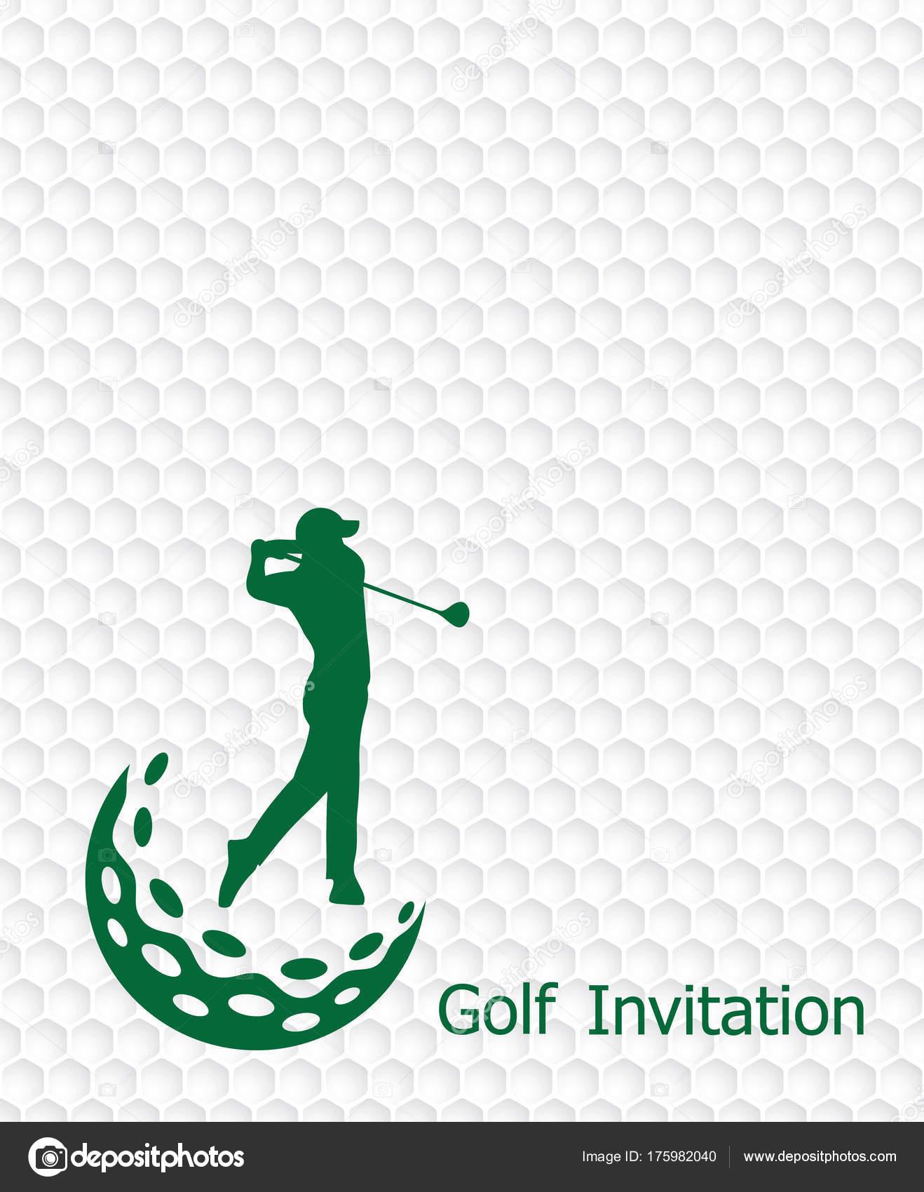 Golf tournament invitation flyer template graphic design golfer golf tournament invitation flyer template graphic design golfer swinging golfball stock vector stopboris Choice Image